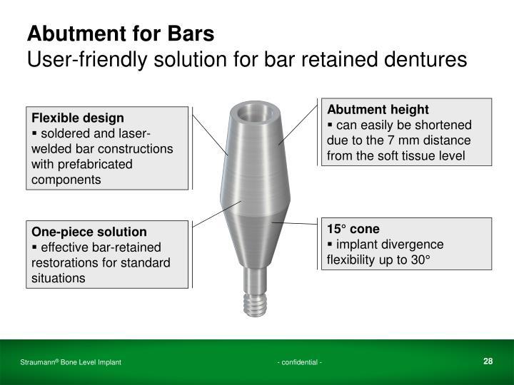 Abutment for Bars