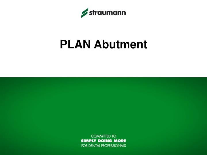 PLAN Abutment