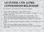 le intese con altre confessioni religiose