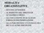 modalita organizzative