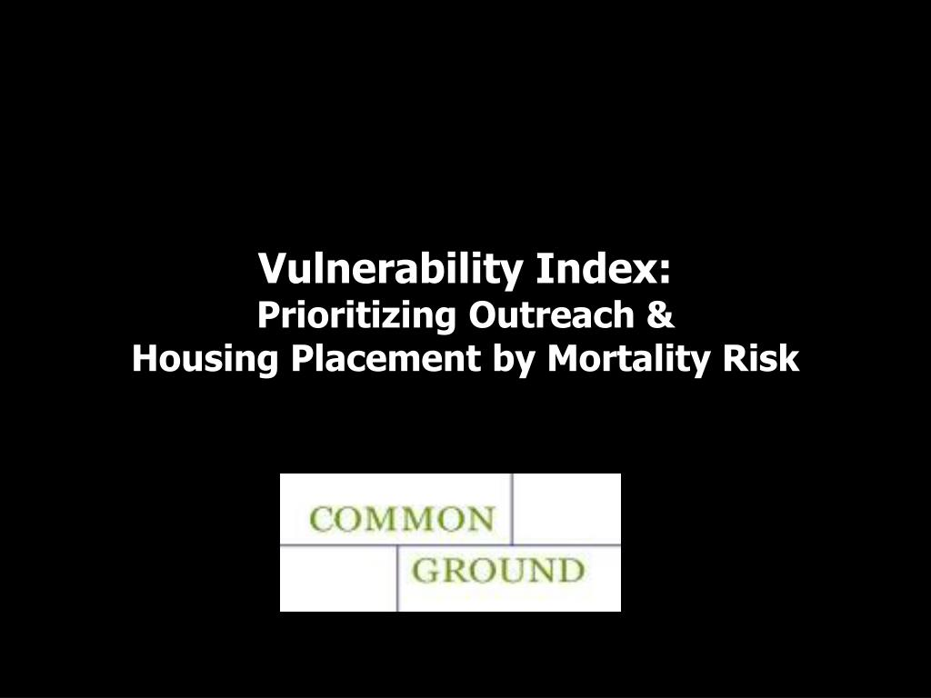 Vulnerability Index: