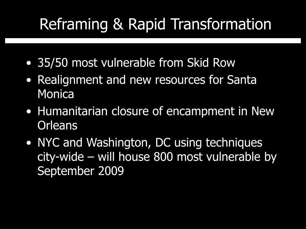 Reframing & Rapid Transformation