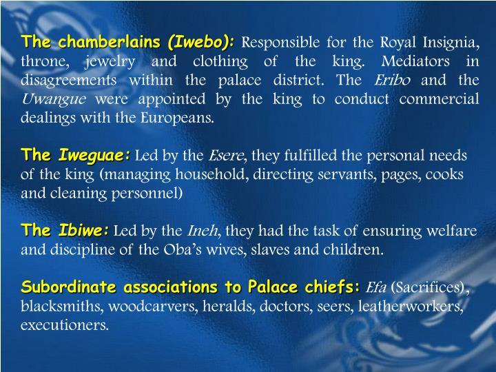 The chamberlains