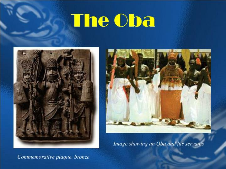 Image showing an Oba and his servants