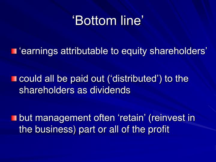 'Bottom line'