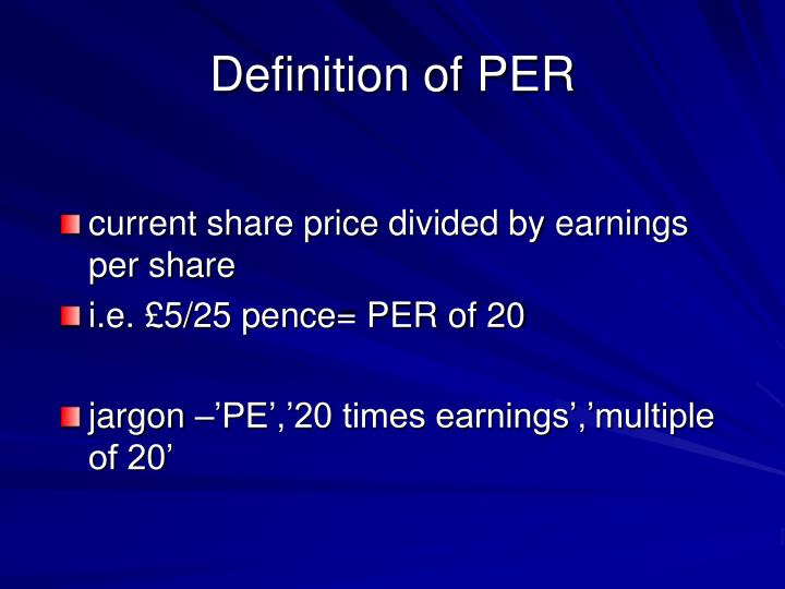 Definition of PER