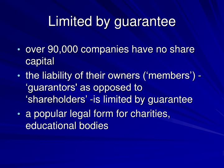 Limited by guarantee