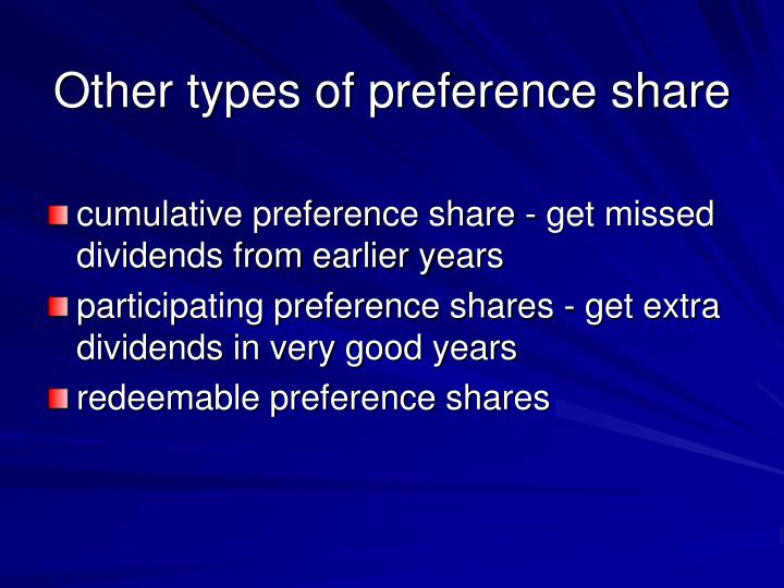 Other types of preference share