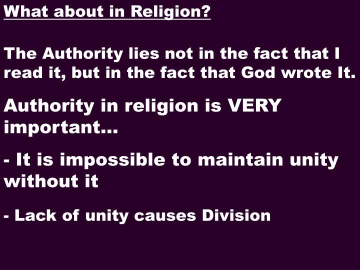 What about in Religion?