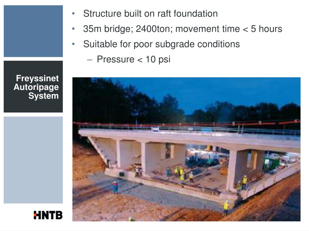 Structure built on raft foundation