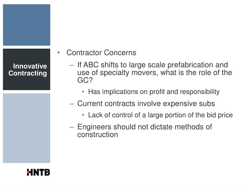 Contractor Concerns