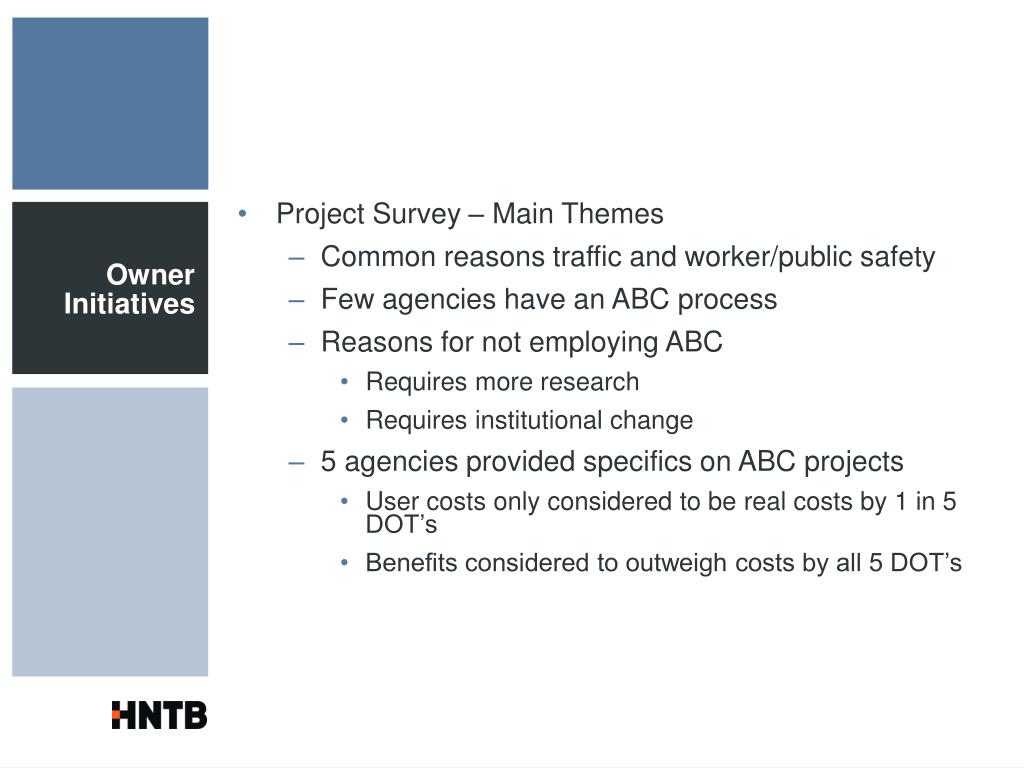 Project Survey – Main Themes