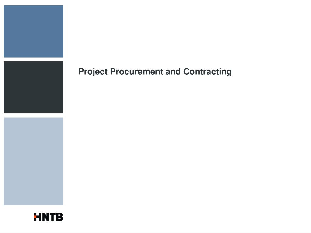 Project Procurement and Contracting