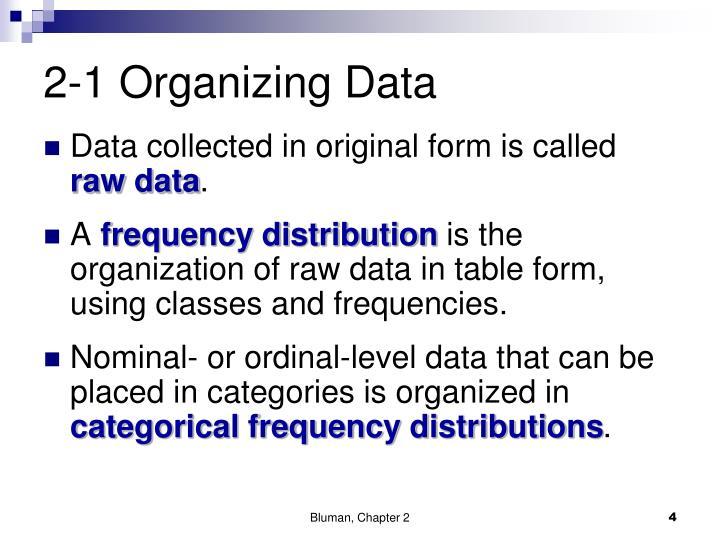 2-1 Organizing Data