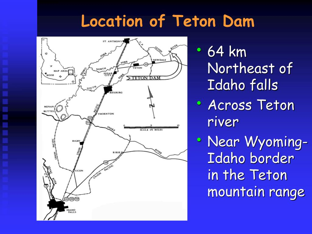 Location of Teton Dam