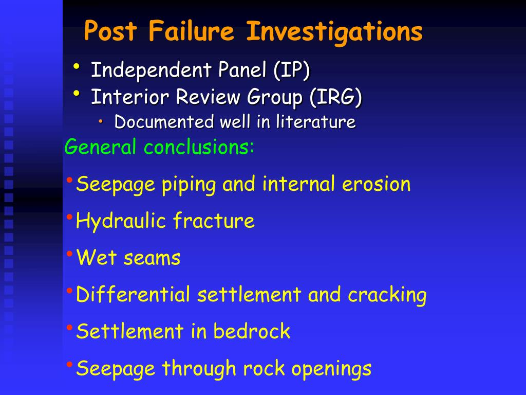Post Failure Investigations
