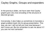 cayley graphs groups and expanders