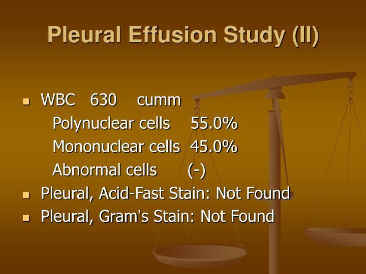 Pleural Effusion Study (II)