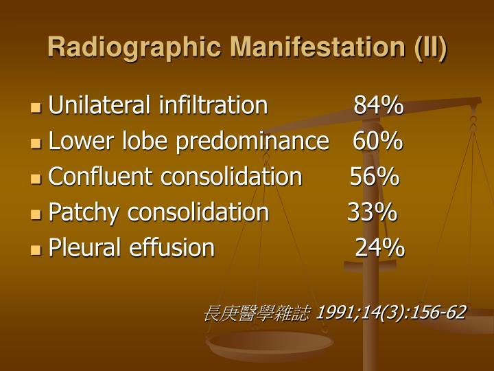 Radiographic Manifestation (II)