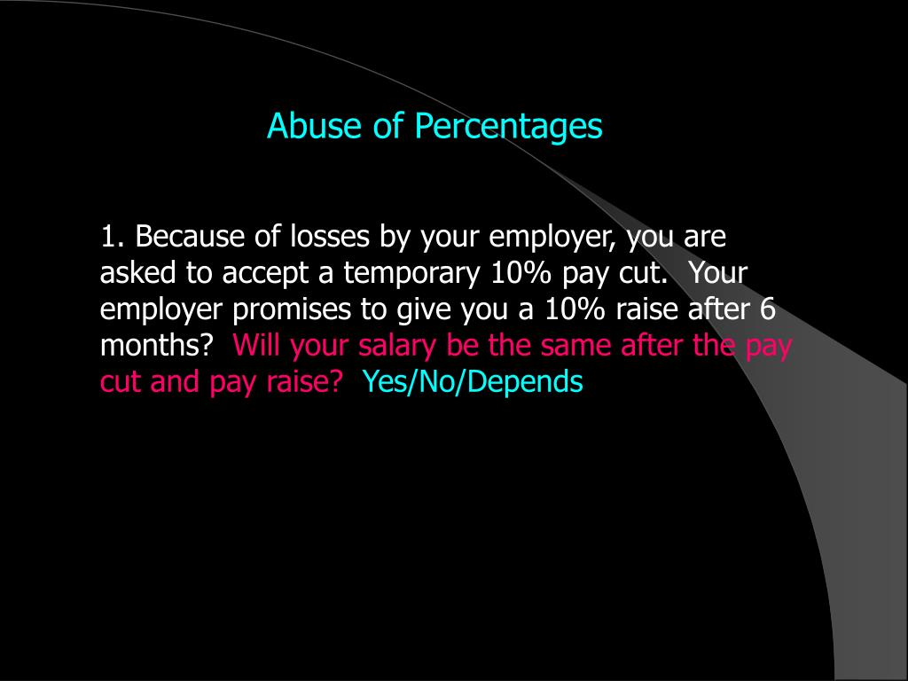 Abuse of Percentages