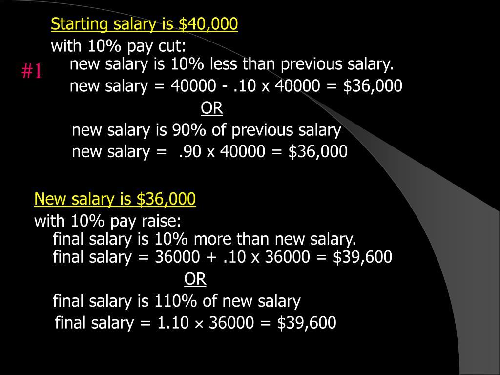 Starting salary is $40,000