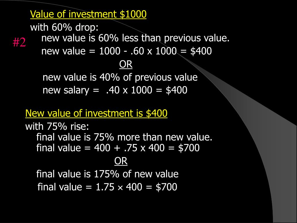 Value of investment $1000