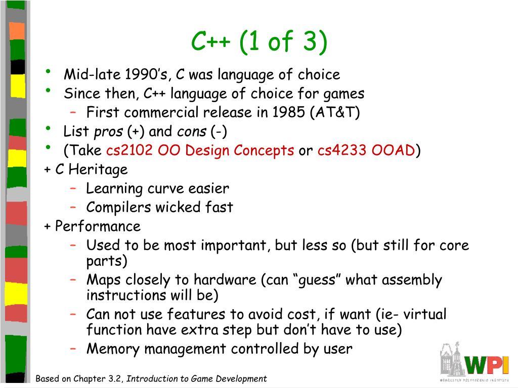 C++ (1 of 3)