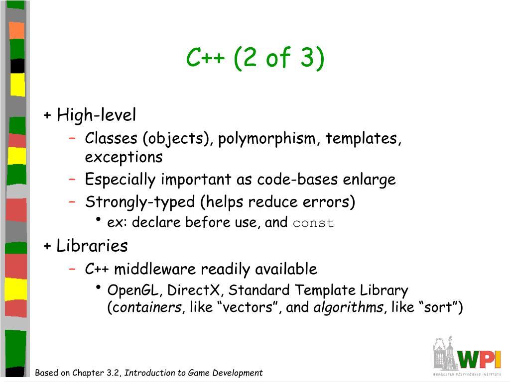 C++ (2 of 3)