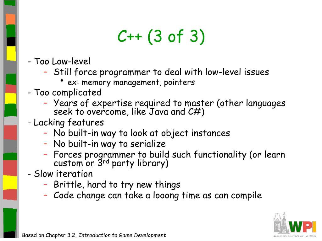 C++ (3 of 3)