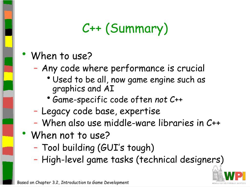 C++ (Summary)