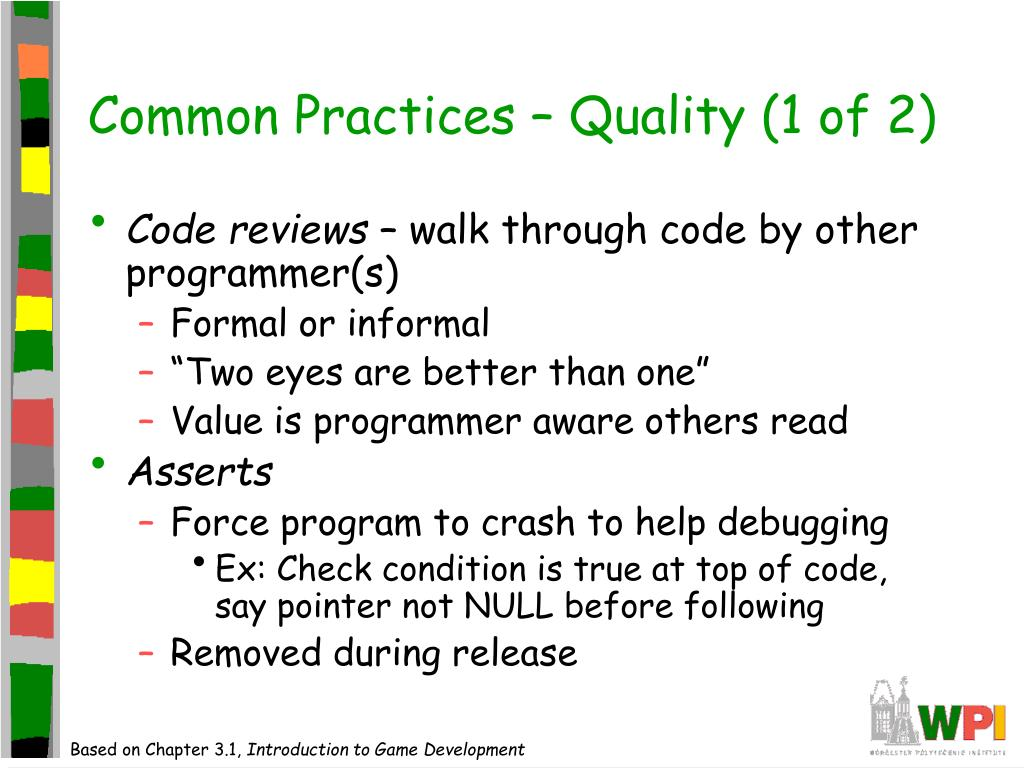 Common Practices – Quality (1 of 2)