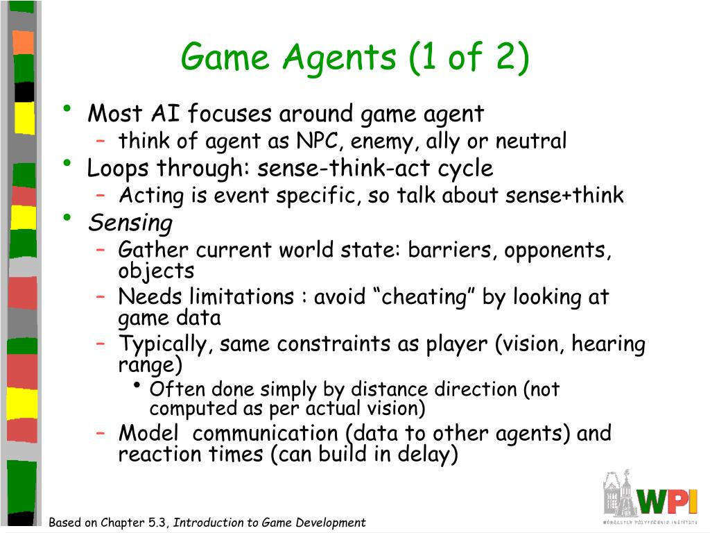 Game Agents (1 of 2)