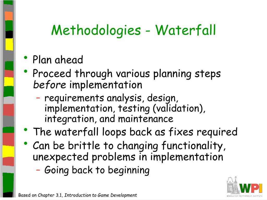 Methodologies - Waterfall