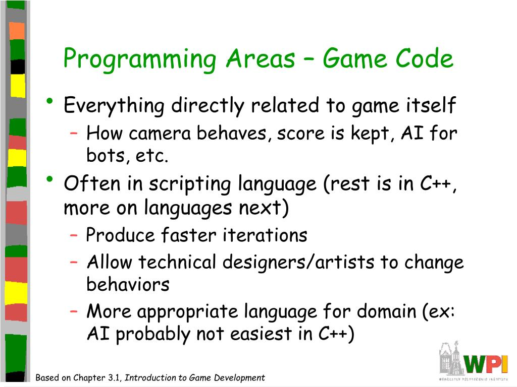 Programming Areas – Game Code