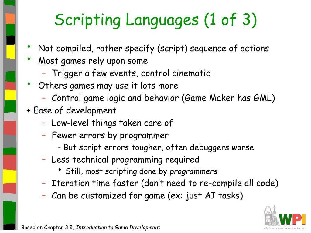 Scripting Languages (1 of 3)