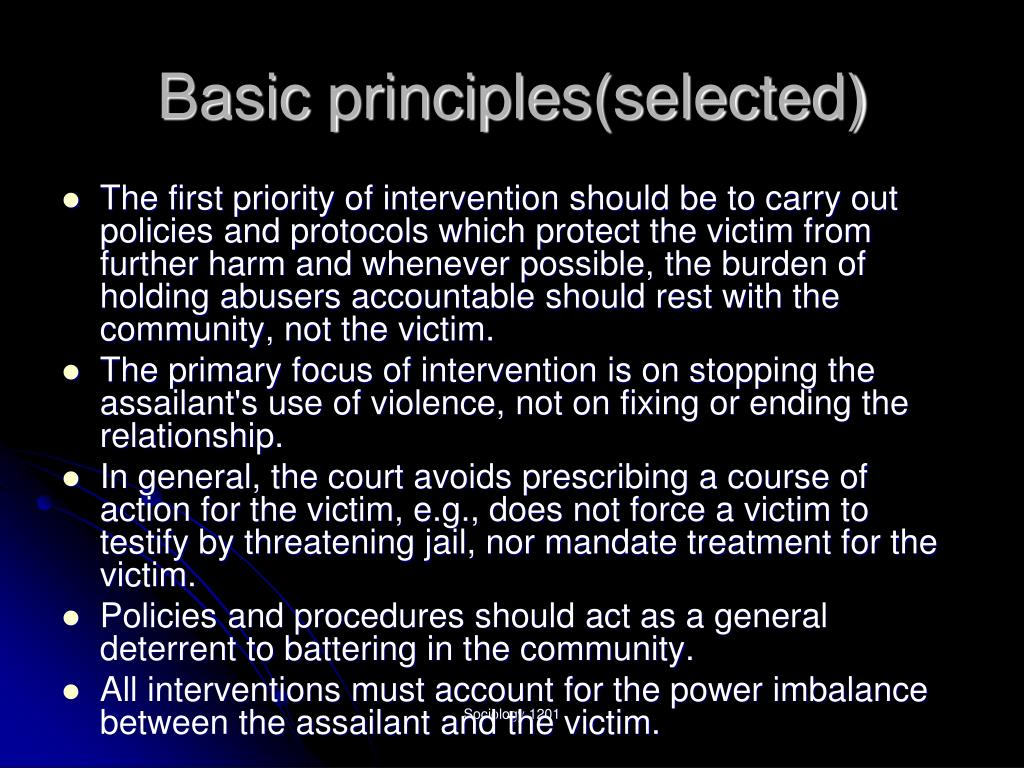 Basic principles(selected)