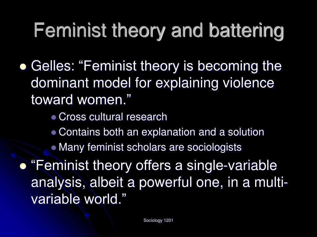 Feminist theory and battering