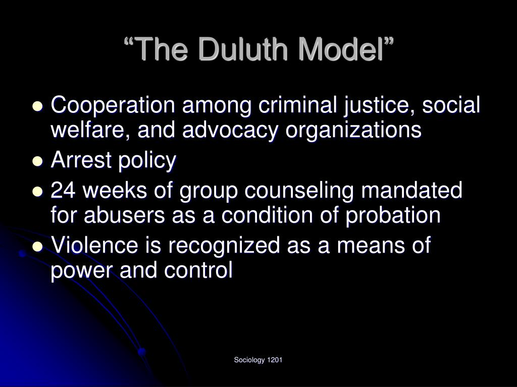 """The Duluth Model"""