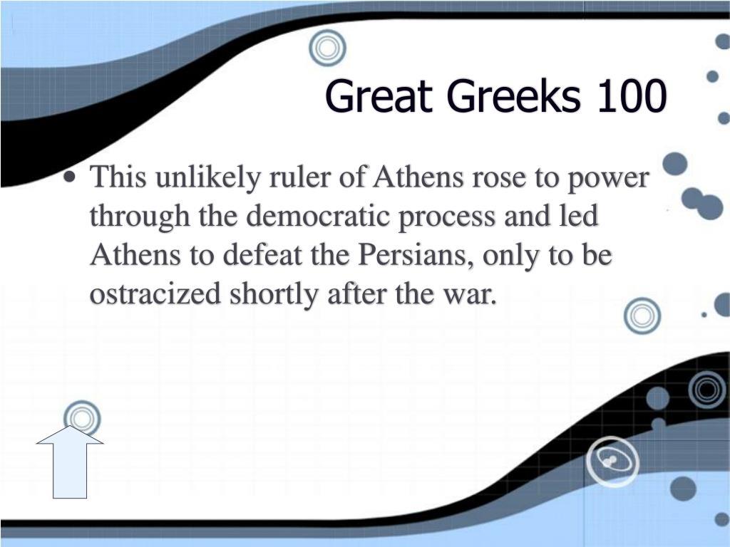 Great Greeks 100