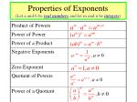 properties of exponents let a and b be real numbers and let m and n be integers