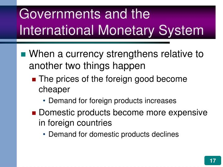 Governments and the International Monetary System