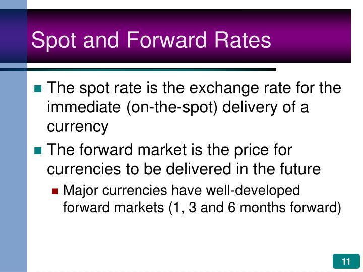Spot and Forward Rates