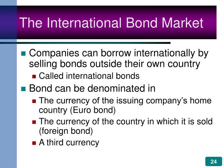 The International Bond Market