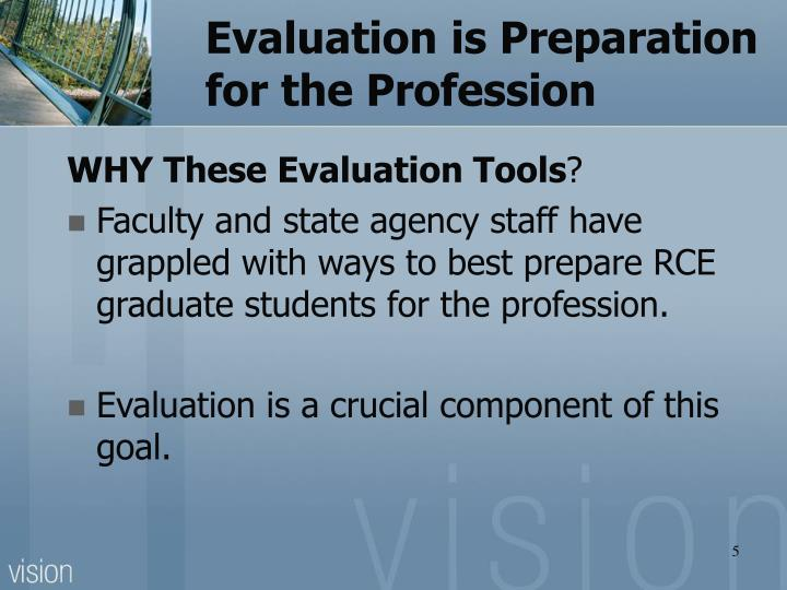 Evaluation is Preparation