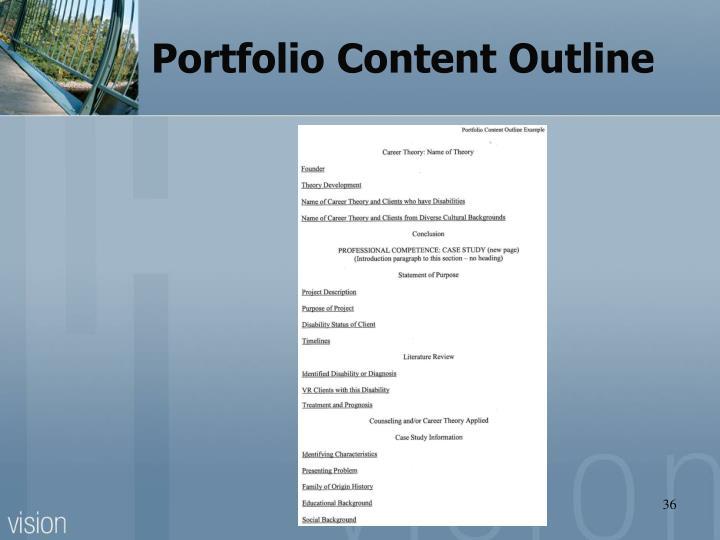 Portfolio Content Outline