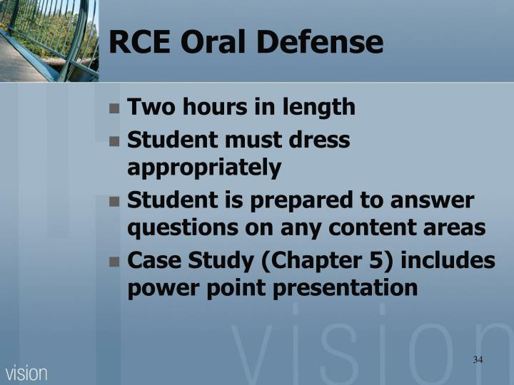 RCE Oral Defense