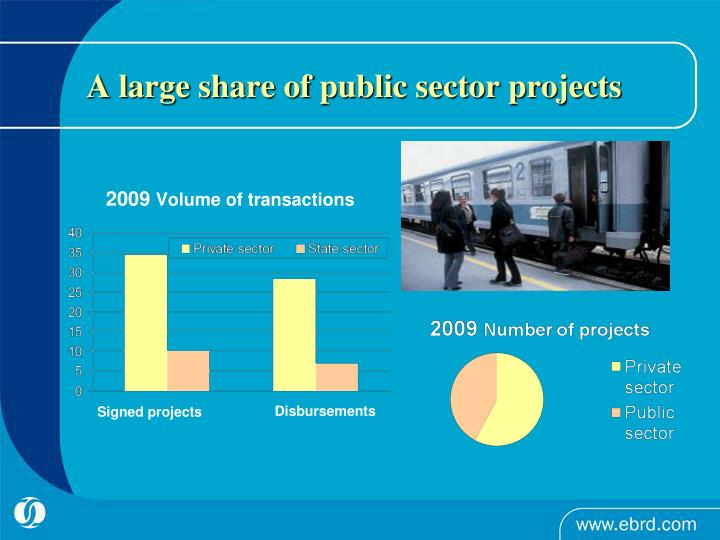 A large share of public sector projects
