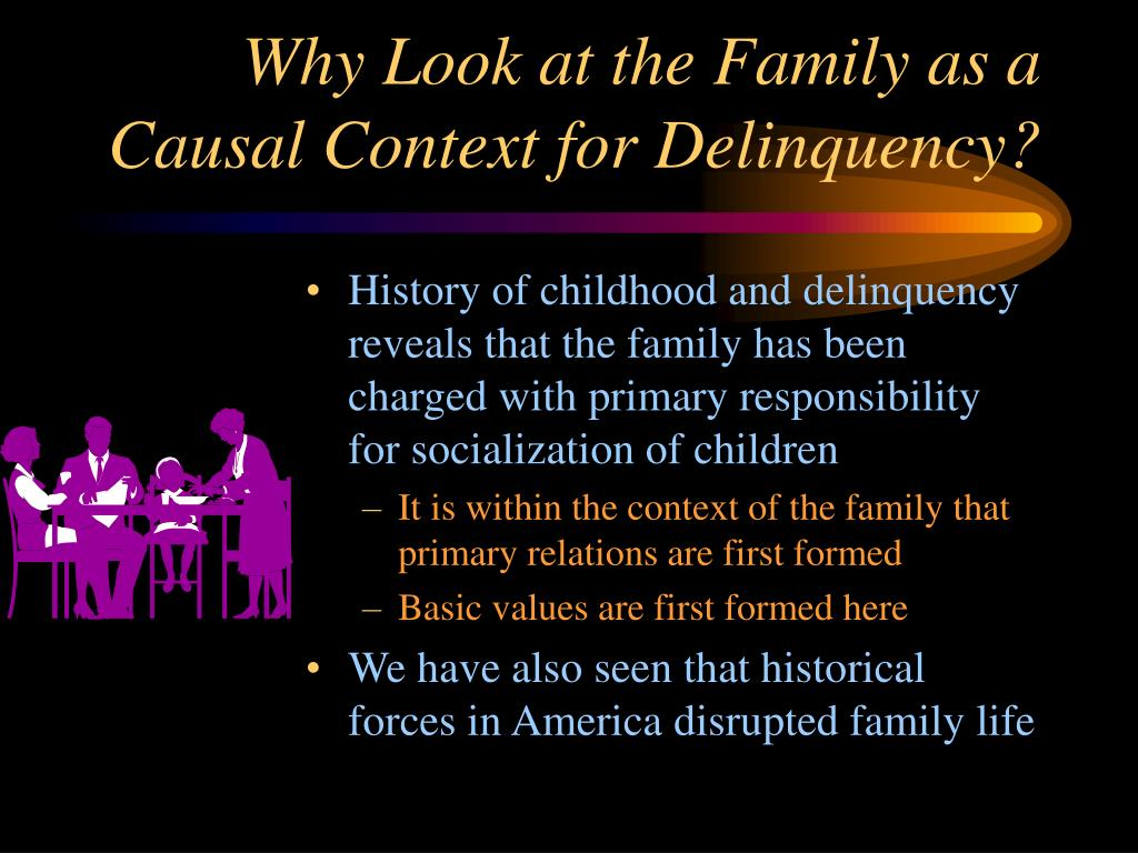 Why Look at the Family as a Causal Context for Delinquency?