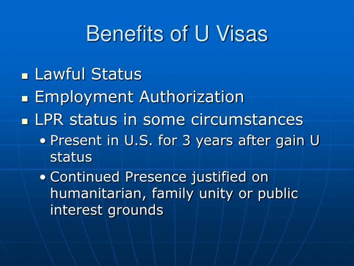 Benefits of U Visas