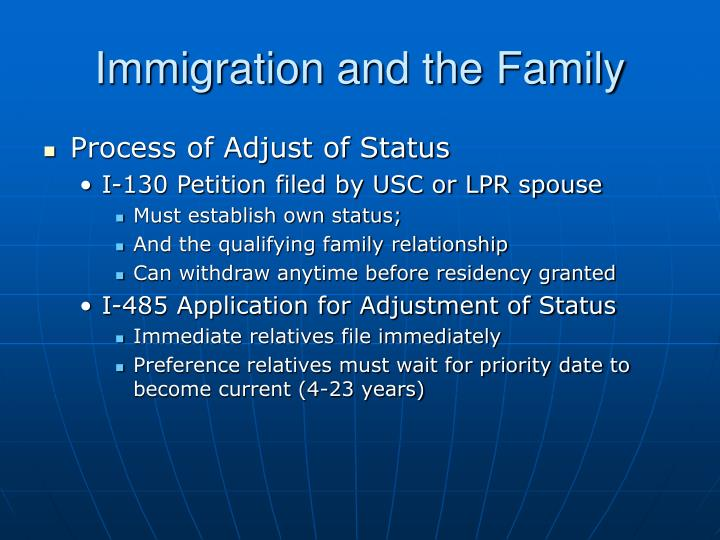 Immigration and the Family